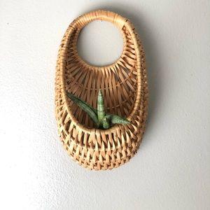 Hanging Wicker Flower Basket
